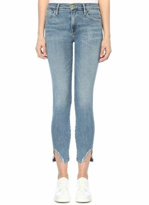 Frame Denim Yüksek Bel Yırtmaçlı Skinny Jean Pantolon